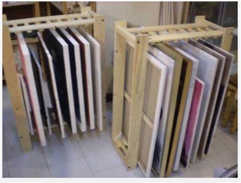 Canvas Drying Rack by Diy Painting Rack Studio Ideas