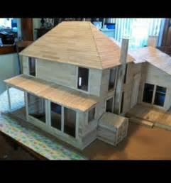 Popsicle Stick House Plans I Want To Create A Popsicle Stick House Someday Craft Ideas Popsicles House And