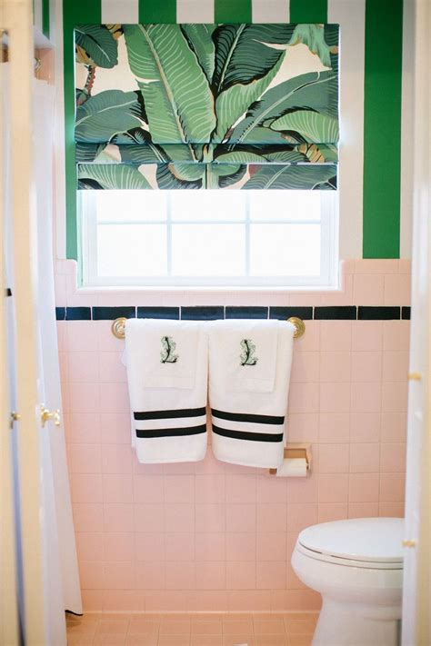 pink green bathroom best 25 tropical roman shades ideas on pinterest