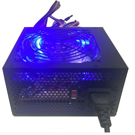 computer power supply fan 700 watt blue led 120mm silent fan gaming pc atx 12v