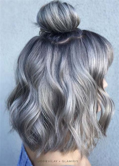 shoulder length hairstyles gray hair 85 silver hair color ideas and tips for dyeing