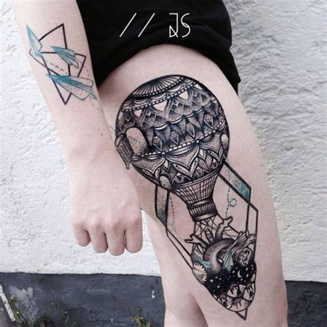 first place tattoos 365 best air balloon tattoos images on