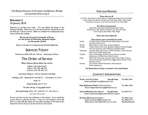church order of service program template best photos of sle church programs order of service