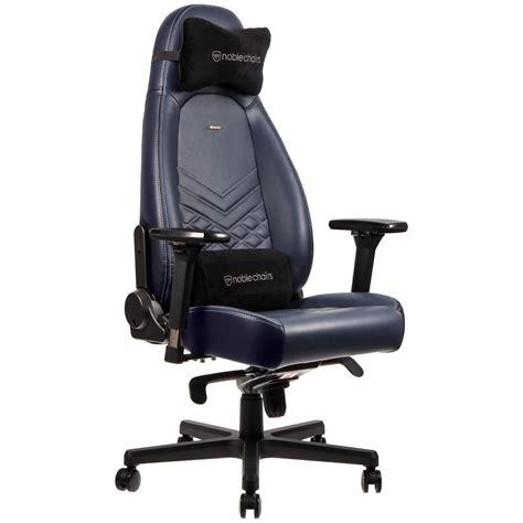 Intercités De Nuit Siege Inclinable noblechairs icon cuir bleu nuit fauteuil gamer