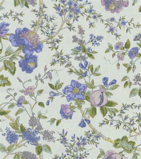 home decor print fabric waverly lavaliere larkspur at