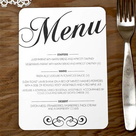 menu cards for wedding reception template vintage wedding menu doodlelove