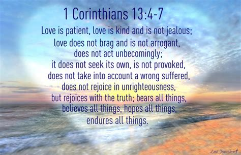 13 4 7 love is patient love is kind and is not jealous love