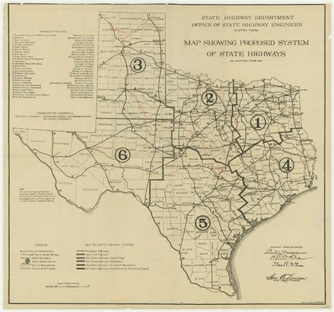 texas road map state texas proposed state highway plan in 1917 3400 x 3182 mapporn