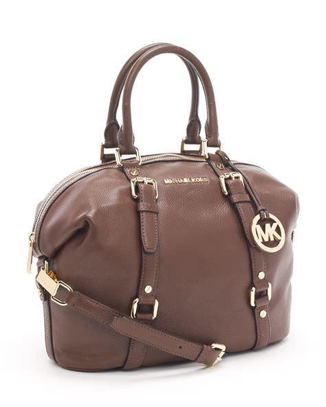 Mk Bedford Medium Satchel lyst michael kors bedford medium satchel mocha in brown