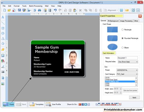 printable id cards maker id cards maker software make identification cards identity