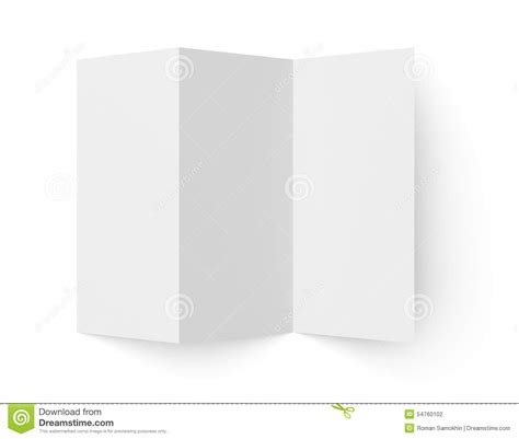 Tri Fold Brochure Paper Stock - leaflet blank tri fold white paper brochure stock