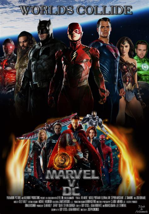 film marvel dc marvel v dc movie poster by arkhamnatic on deviantart