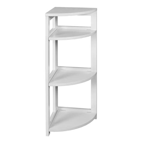 3 Shelf Corner Bookcase Niche Flip Flop White 3 Shelf Corner Folding Bookcase Ffc3412wh The Home Depot