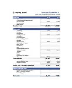 net income statement template a statement template