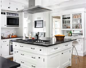 center island vent transitional kitchen