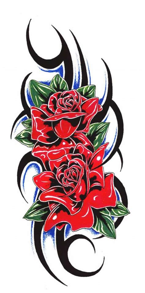 tribal rose tattoos for men pictures to pin on pinterest