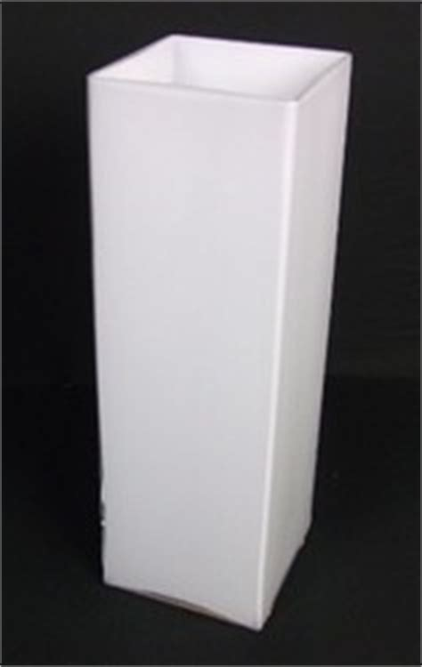 Square White Vases by Cupid Blooms Gifts