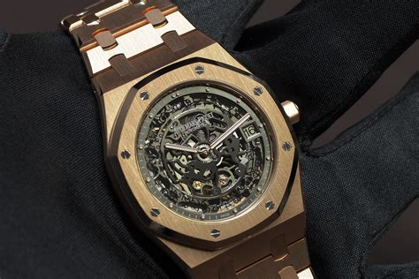 Audemars Piguet Ap Ro Thin Rosegold Black Ultimate professional watches on with audemars piguet royal oak openworked thin gold