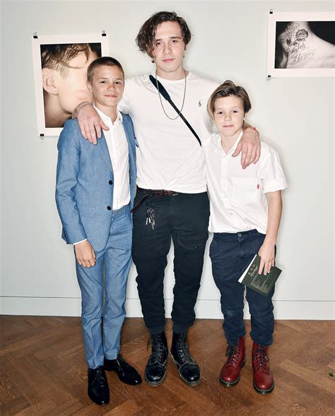 romeo james beckham 2017 david and victoria beckham support son brooklyn at book