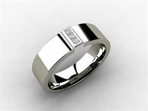 titanium wedding band white gold from torkkelijewellery