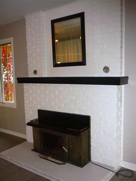 white painted brick fireplace white painted brick fireplaces