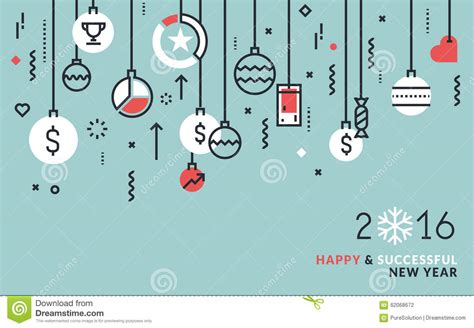 new year line flat line design business concept for new year s greeting
