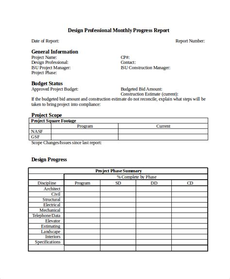 progress report template progress report template 47 free sle exle