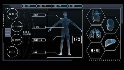 menu layout science medical technology blood animation motion graphics layout