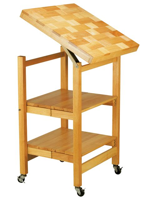 oasis all purpose folding rubberwood cart