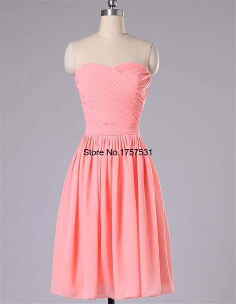 aliexpress dresses aliexpress com buy strapless coral colored bridesmaid