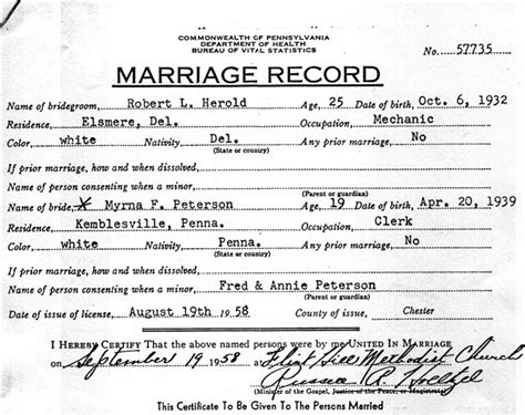Md marriage license records