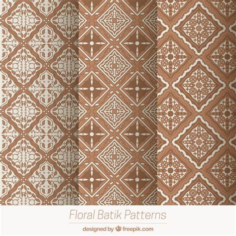 batik geometric pattern pack of geometric patterns in batik style vector free