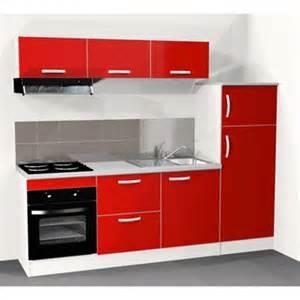 Cuisine Equipee Avec Electromenager Leroy Merlin #1: cuisine-equipee-spring-240-cm-rouge-electromenager-inclus.jpg