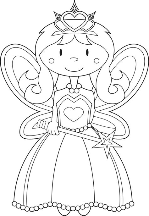 Fairy Princess Coloring Page Az Coloring Pages Princess Drawing Free Coloring Sheets