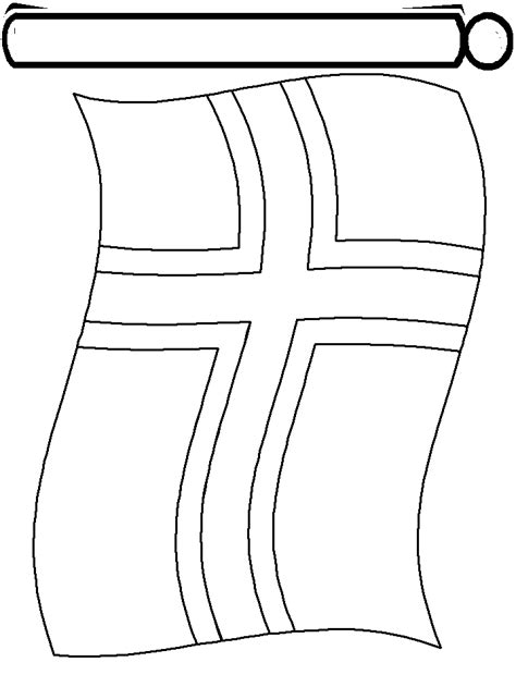 flag of norway coloring pages