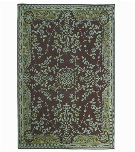 recycled plastic outdoor rugs reversible recycled teal and brown indoor outdoor rug gardens stains and recycled materials