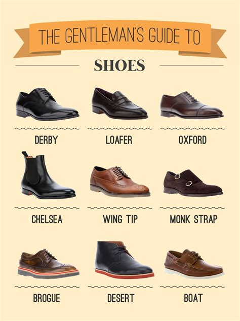 kinds of shoes for types of shoes gentleman r