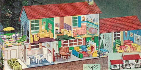 tin doll house vintage toys and pastimes 1960 s tin doll house