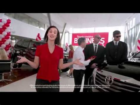 toyota commercial actress australia zoe chatswood toyota means business tv advert