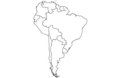 blank map of south america blank map of central and south america latin besttabletfor