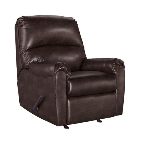 faux leather recliners ashley talco faux leather rocker recliner in burgundy