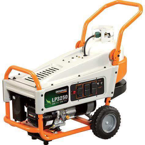 free shipping generac lp3250 portable propane generator