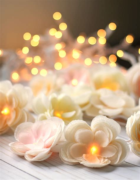 diy floral garland with lights thecraftpatchblog com