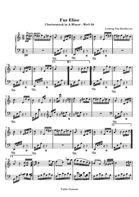 per elisa testo spartito per elisa clarinetto piano