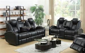 Reclining Sofa And Loveseat Black Leather Power Reclining Sofa And Loveseat Set