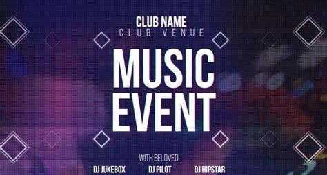 music event after effects templates free after effects