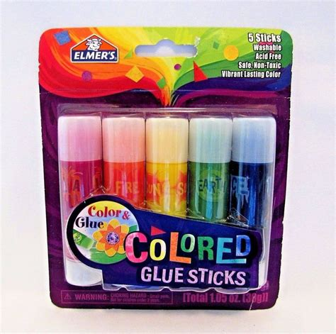 colored glue sticks elmers colored glue sticks washable non toxic for drawing