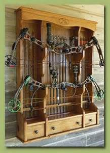 this bow rack is a great way to display your