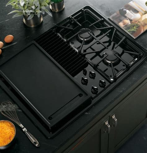 Ge Modular Cooktop Ge Pgp990denbb 30 Inch Downdraft Gas Modular Cooktop With