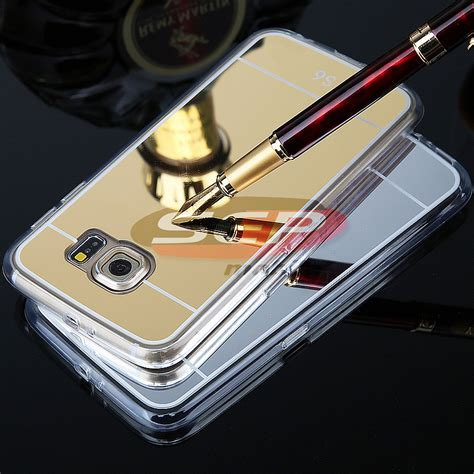 Casing Rubber Mirror Silver For Samsung S6 toc jelly mirror toc jelly mirror samsung galaxy s6 edge plus silver sep mobile